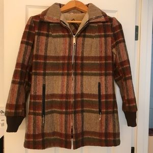Vintage Plaid Coat